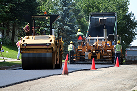 commercial paving installation