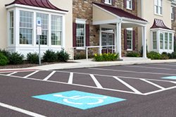 handicap parking strips